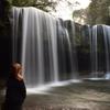夕暮れ時の鍋ヶ滝