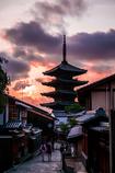 八坂の塔−京の落日