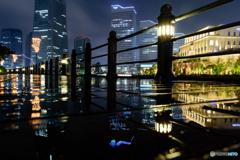雨の運河パーク