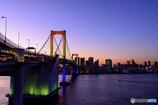 rainbow-bridge sunset