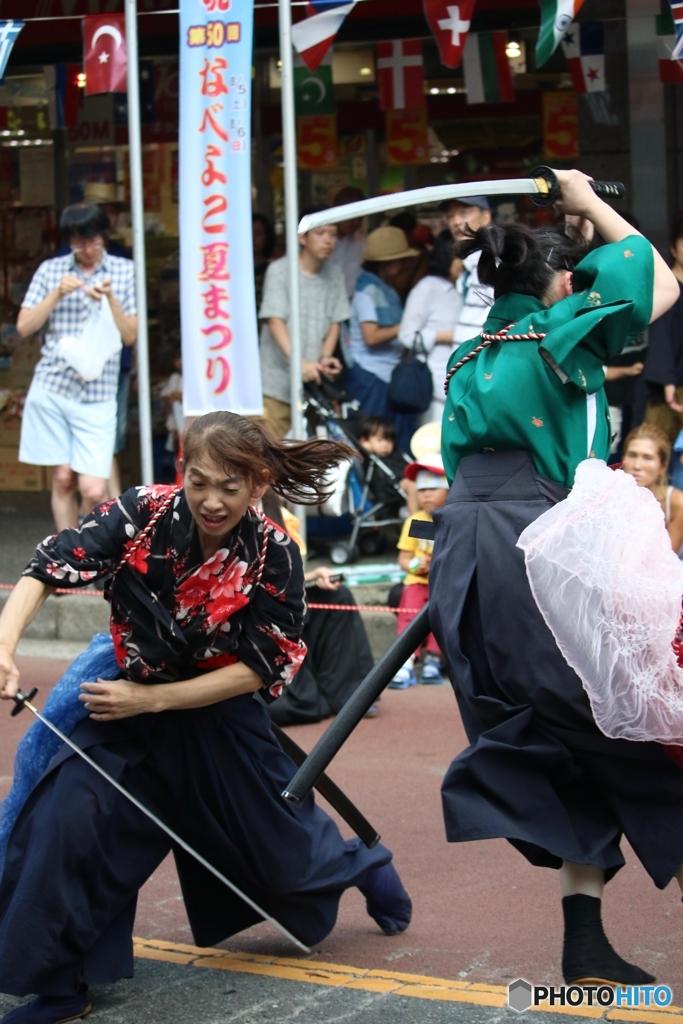 第50回 なべよこ夏まつり 2017/08/06 浅草剣舞会エッジさま 3