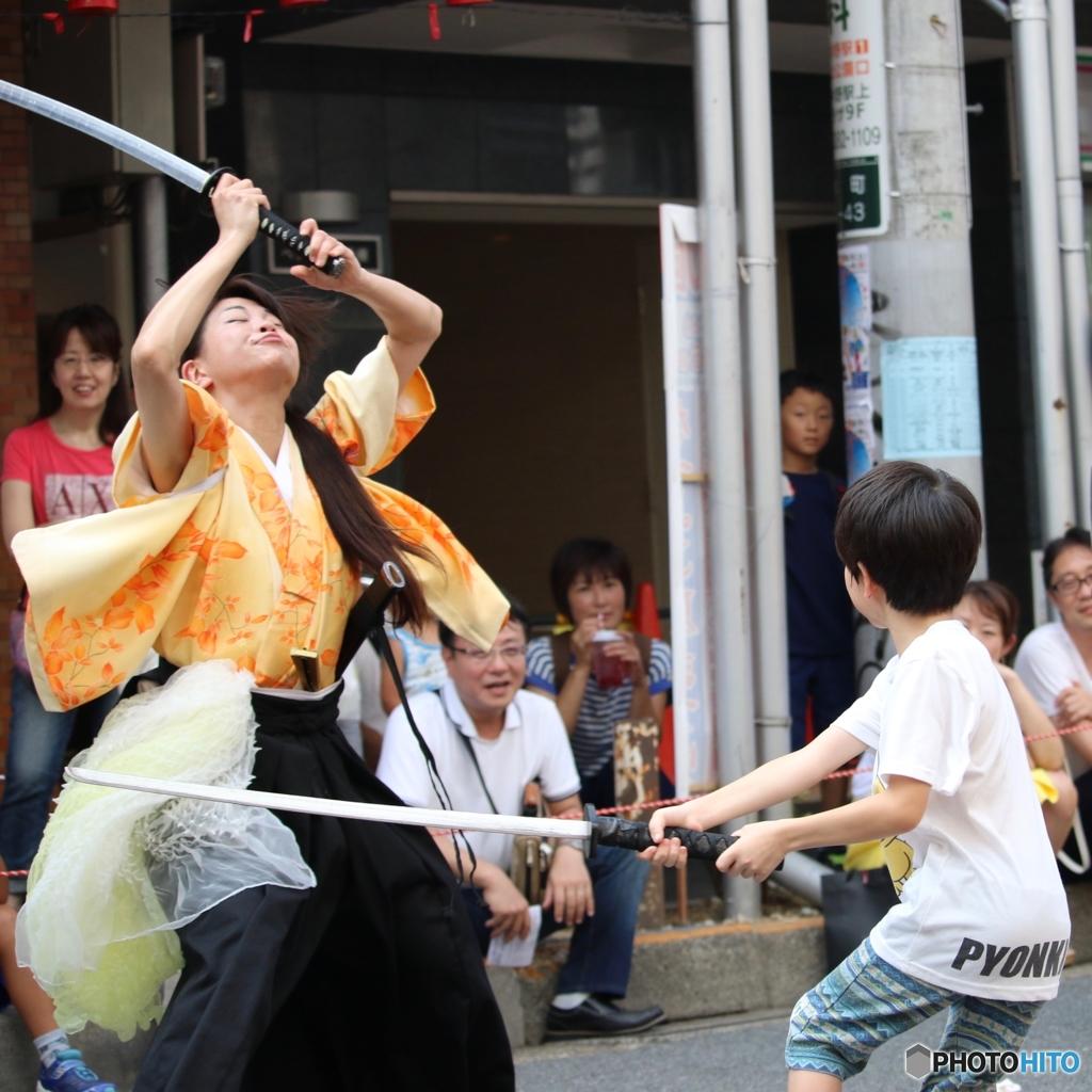 第50回 なべよこ夏まつり 2017/08/06 浅草剣舞会エッジさま 1