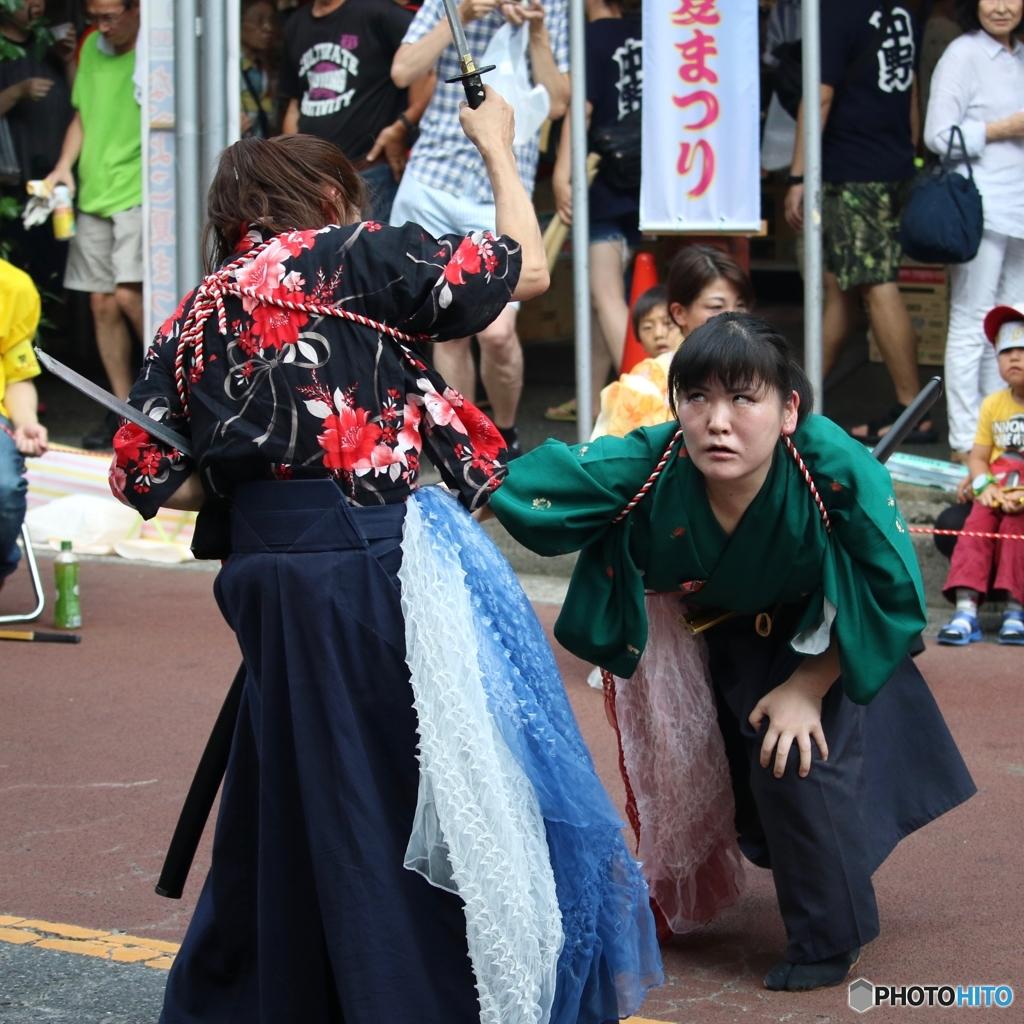 第50回 なべよこ夏まつり 2017/08/06 浅草剣舞会エッジさま 4