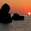 三日目の朝はダルマ!!! ~横浪半島、五色の浜より~