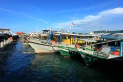 コタキナバルの港