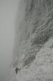 雪をまとった八ヶ岳・横岳・大同心正面壁