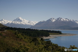 ニュージーランド、プカキ湖とマウントクック