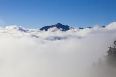 雲海にぽっかり浮かんだ笠ヶ岳