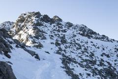 奥穂高岳は雪山に