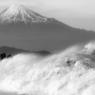 富士山(モノクロ)