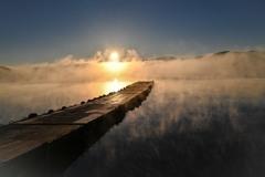 朝靄 山中湖 カラー