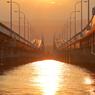 琵琶湖大橋の落日