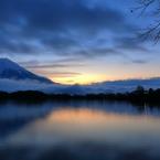 田貫湖の朝焼け