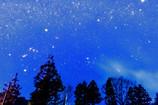 冬の天の川とサンタとトナカイ