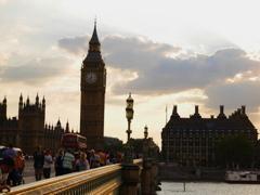 Dusk in London