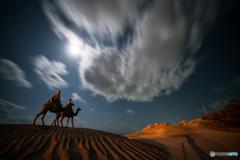 月の砂漠に・・