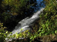 塔のへつり付近の小滝