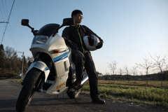 友人とバイク