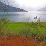 奥琵琶湖、釣り人