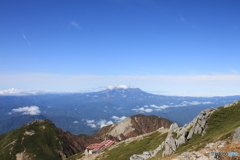 木曽駒ケ岳山頂付近から