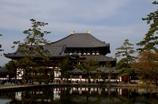 鏡池からの東大寺大仏殿