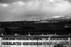 校舎と風車