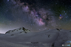浄土山と銀河