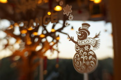 Night and day #3  -snowman-