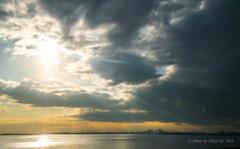 黄昏時の東京湾