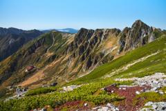山岳紅葉を観に