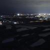 街の灯の出に染まる