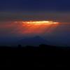 筑波山曇りのち光芒