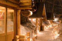 温もりの雪小路