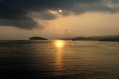 志津川湾の日の出