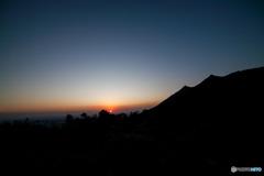 筑波山の日没