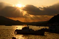 入江の黄昏