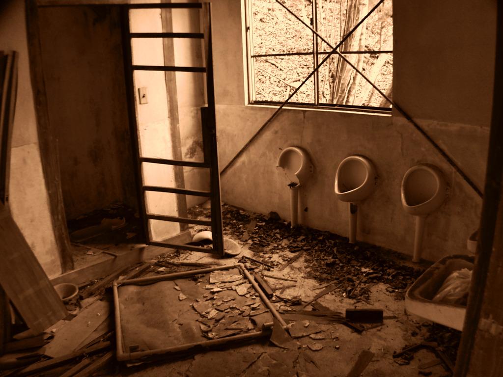 かつてトイレだった物