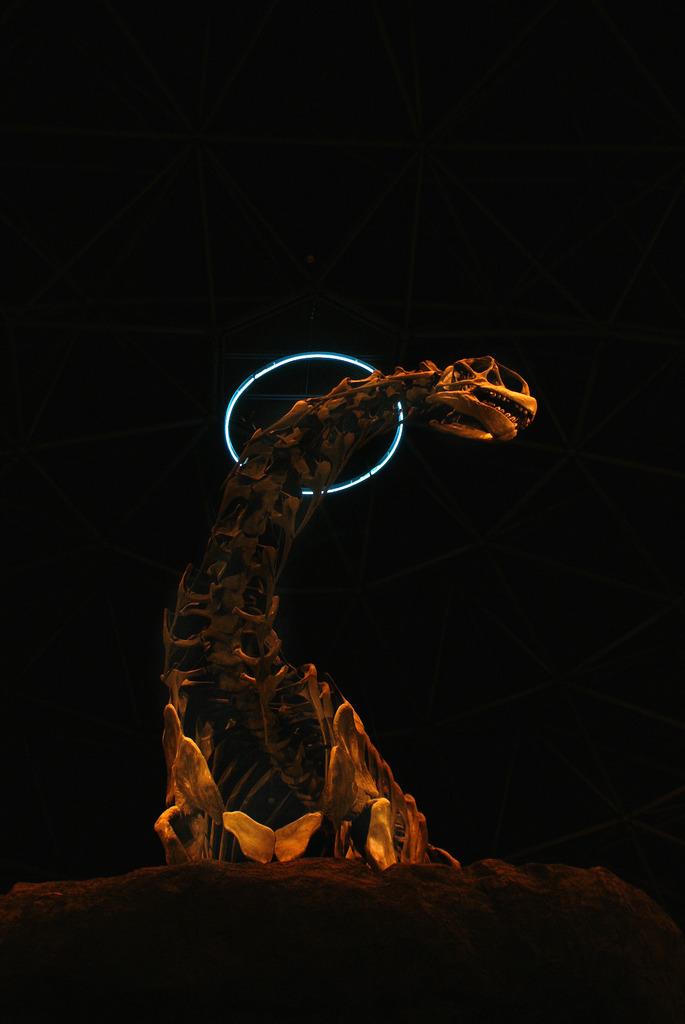 月夜の恐竜