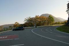 榛名山の峠道