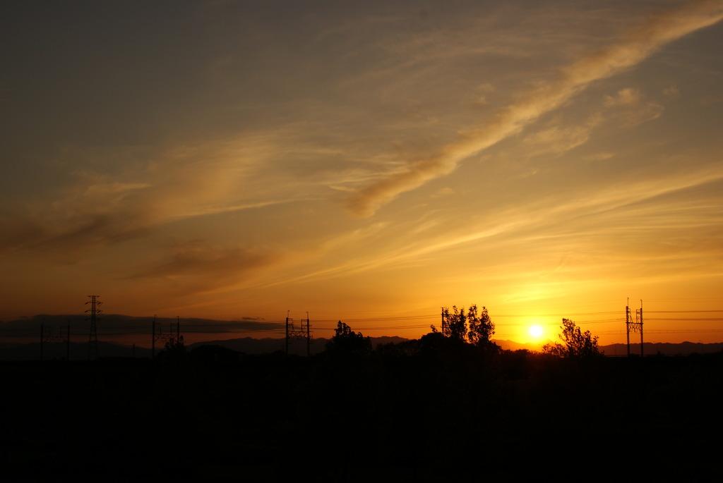 近所の夕焼け