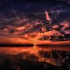 サロマ湖夕景