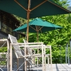 parasol and chair