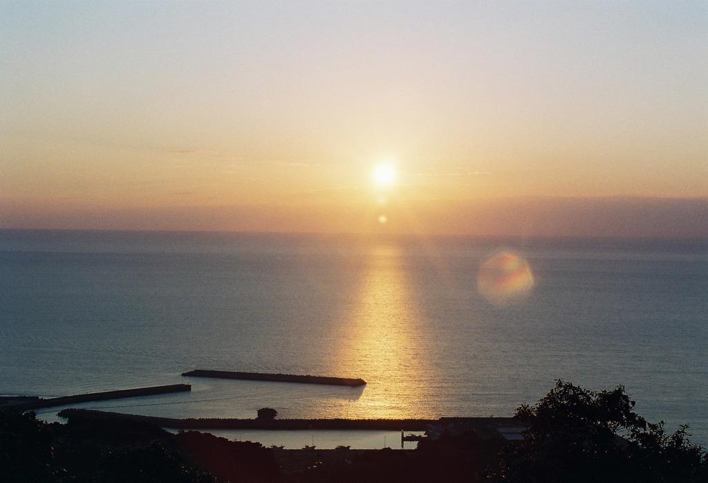 吹上浜からの夕日