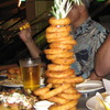 Onion ring tower