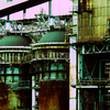 Rusted blast furnace