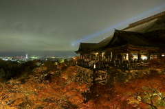 night view of kiyomizu-dera temple