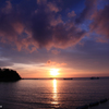 底地ビーチの夕陽