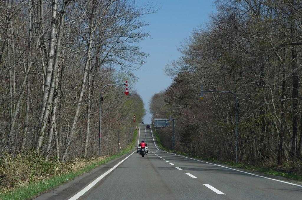 支笏湖直線道路