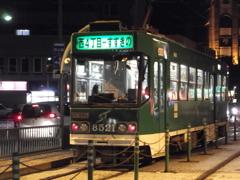 夜の札幌市電