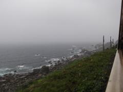 日本海の車窓